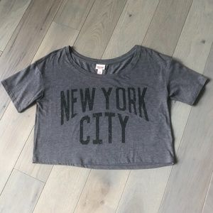 Mossimo Women's Gray NYC Crop Top Size Medium